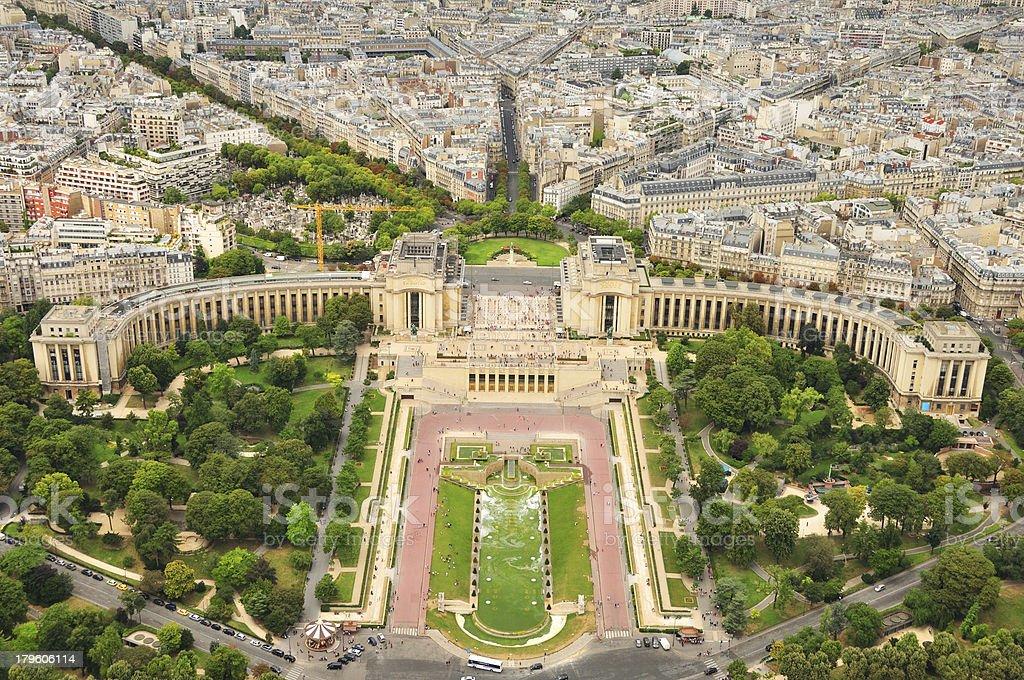 Trocadéro in Paris stock photo