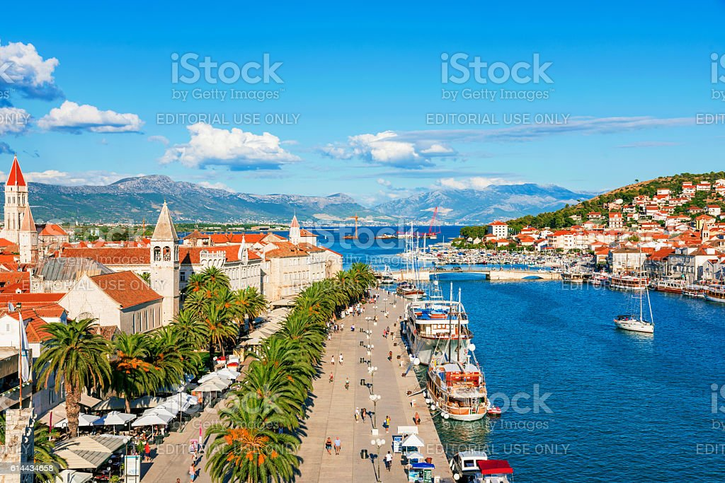 Trogir old town on a sunny day stock photo