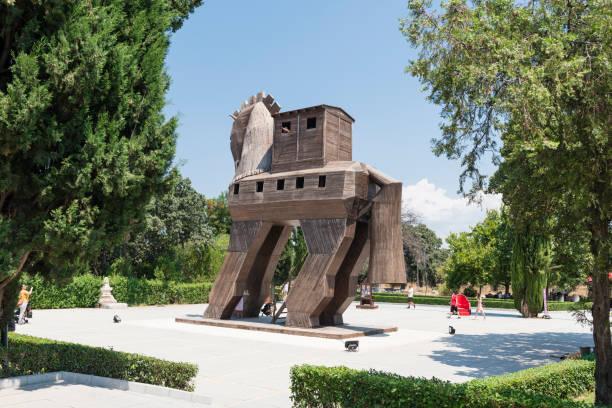 Trojanisches Pferd in Troia Nationalpark in der Türkei – Foto