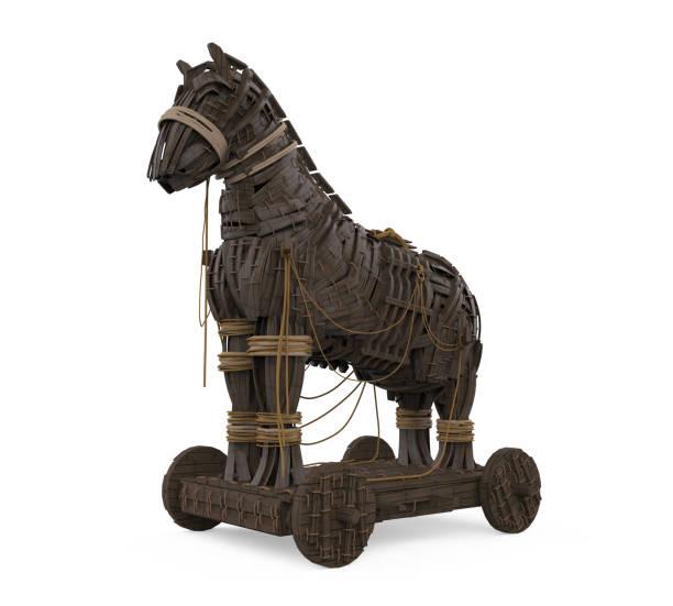 Trojanisches Pferd isoliert – Foto