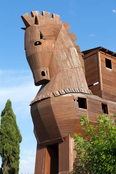 Trojan Horse located in Troy, Turkey – Foto