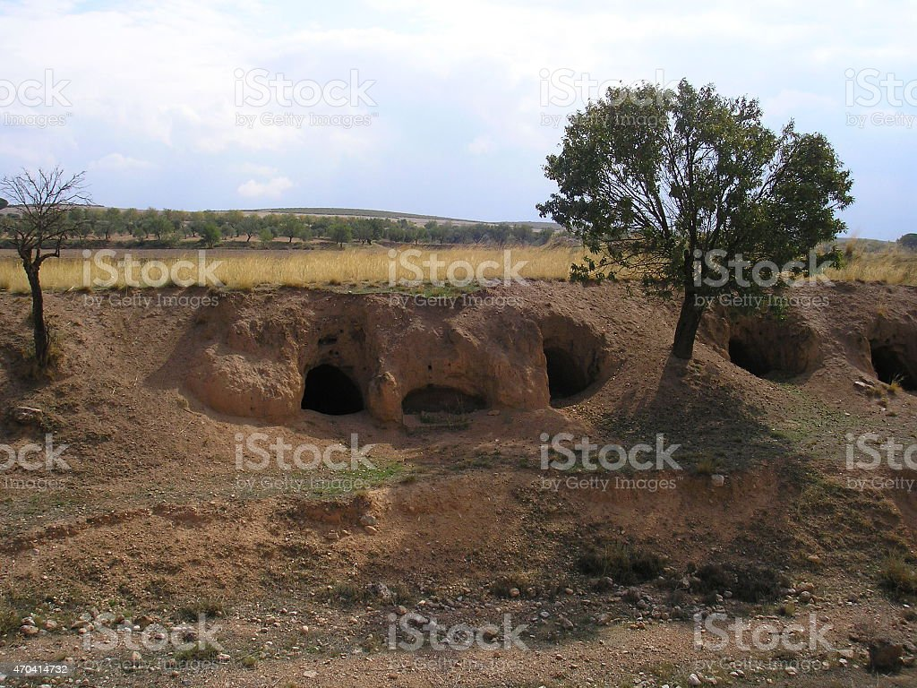 Troll cave, mushrooms cave, monster cave, spain stock photo