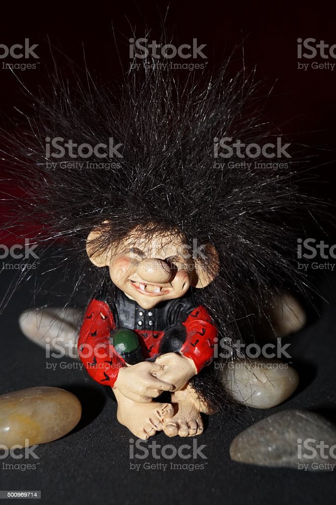 Troll cute stock photo