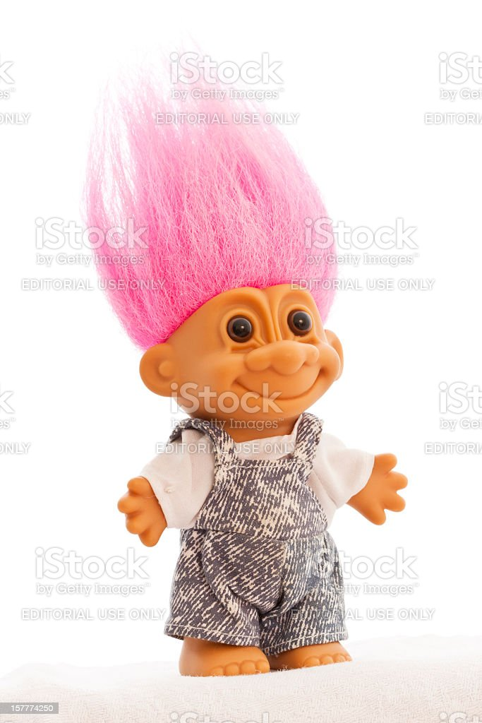 Troll Doll Isolated stock photo