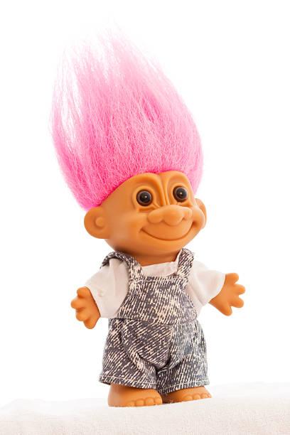 troll doll isolated - 公仔 個照片及圖片檔
