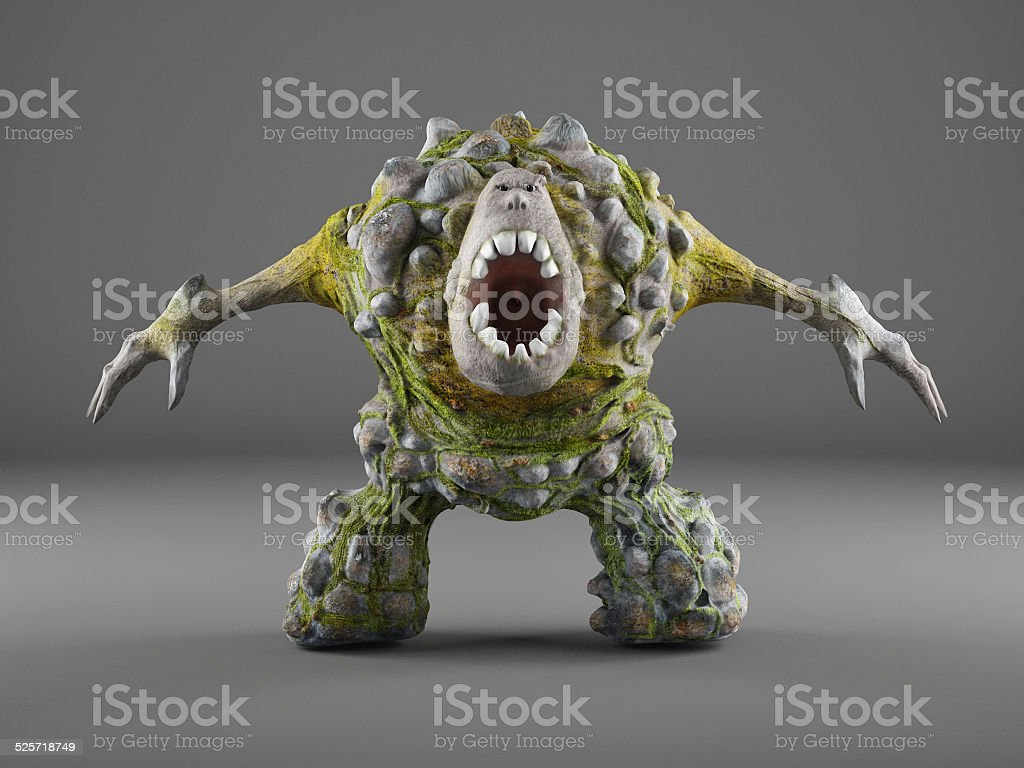 Troll, forest creature stock photo