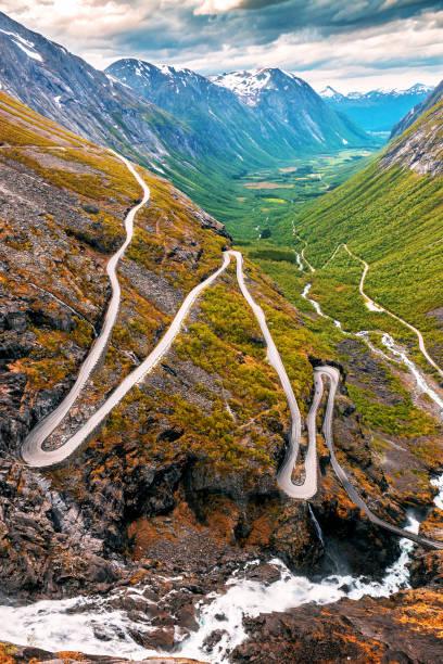 Troll road. Norway stock photo
