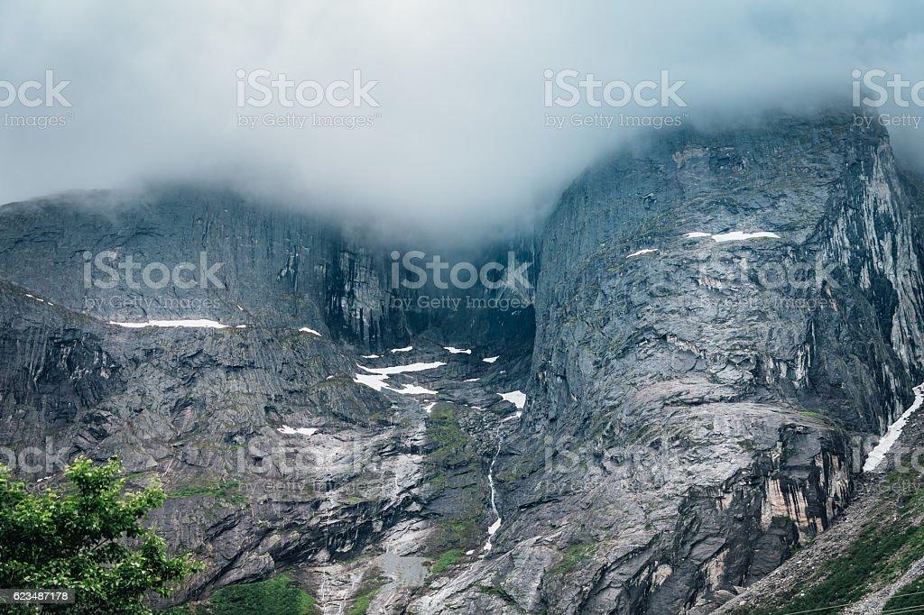 Troll wall Norway stock photo