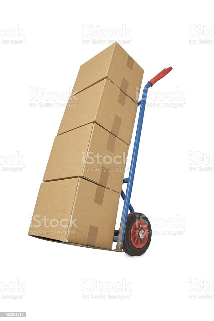Trolley and Boxes... royalty-free stock photo