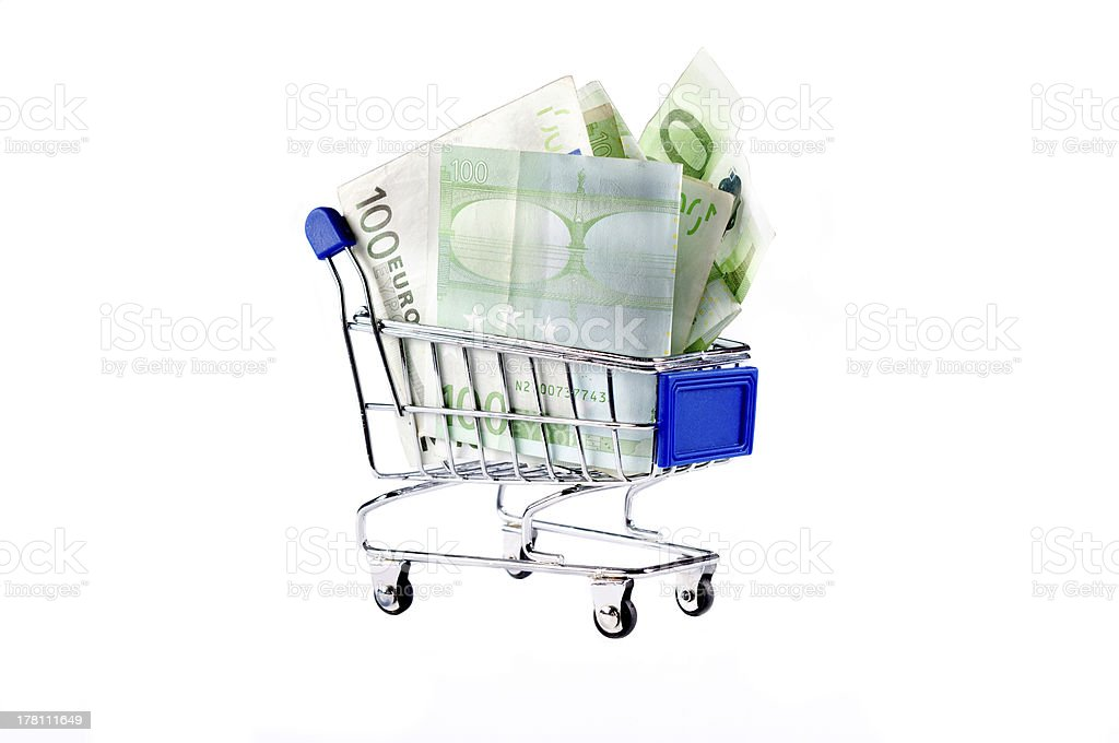 Trolley and money royalty-free stock photo