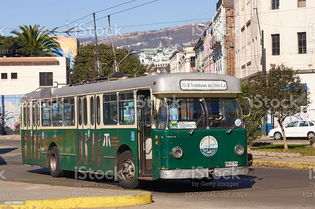 Trolley Bus stock photo