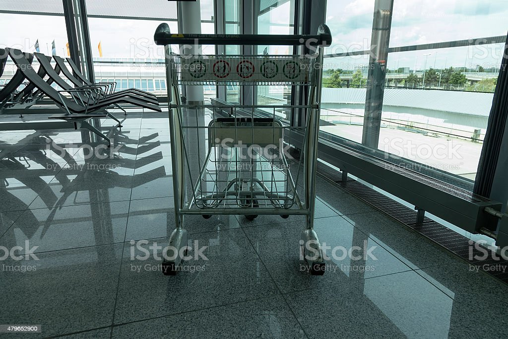 Trolley in the airport royalty-free stock photo