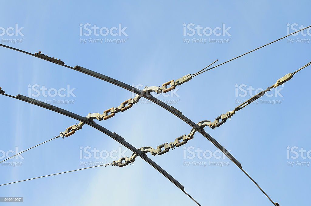 Trolley Pole royalty-free stock photo