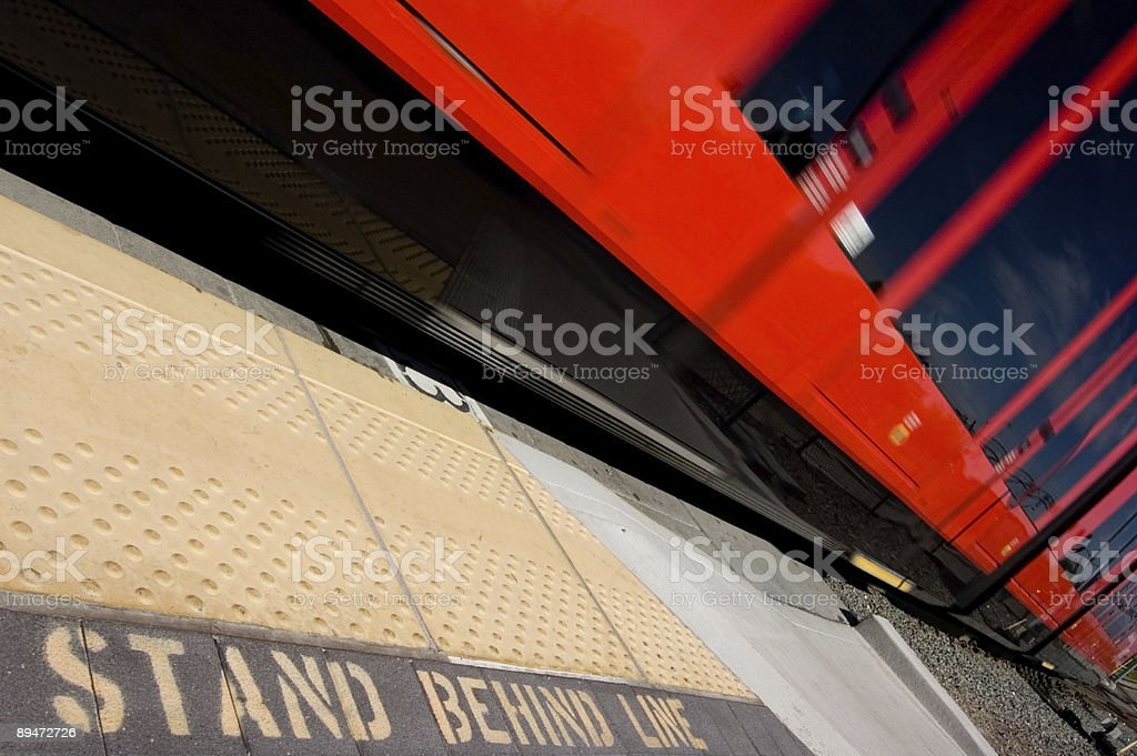 Trolley Station royalty-free stock photo