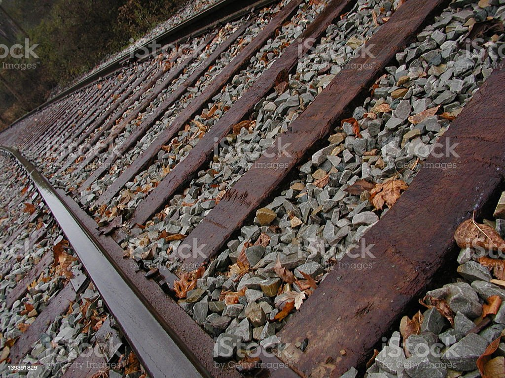 Trolley Track (2) stock photo