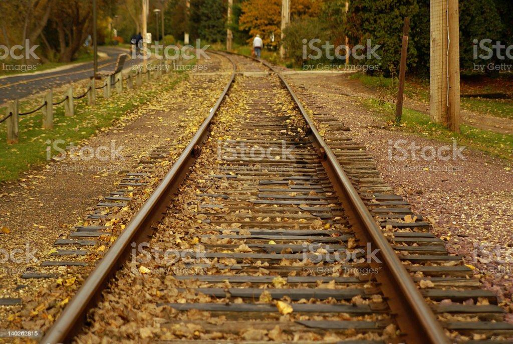 Trolley Tracks royalty-free stock photo