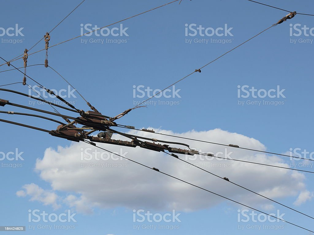 Trolleybus shooter. royalty-free stock photo