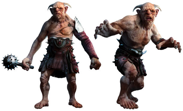 Trolls , ogres or giants 3D illustration Trolls , ogres or giants 3D illustration giant fictional character stock pictures, royalty-free photos & images