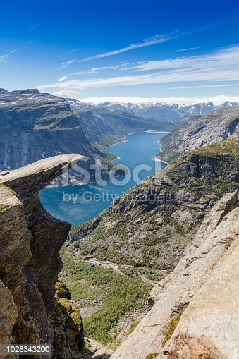 The famous Trolltunga near Odda in Norway