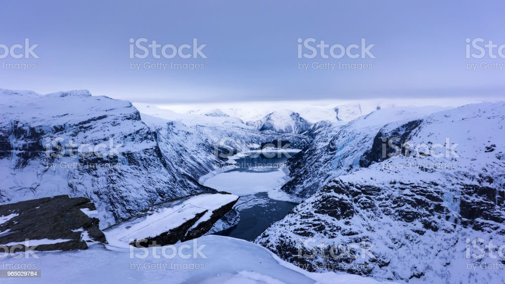 Trolltunga royalty-free stock photo