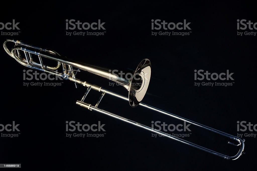 Trombone Isolated On Black stock photo