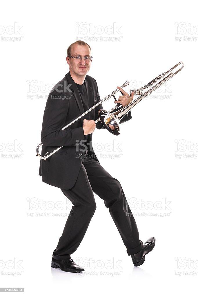 Trombone Player royalty-free stock photo