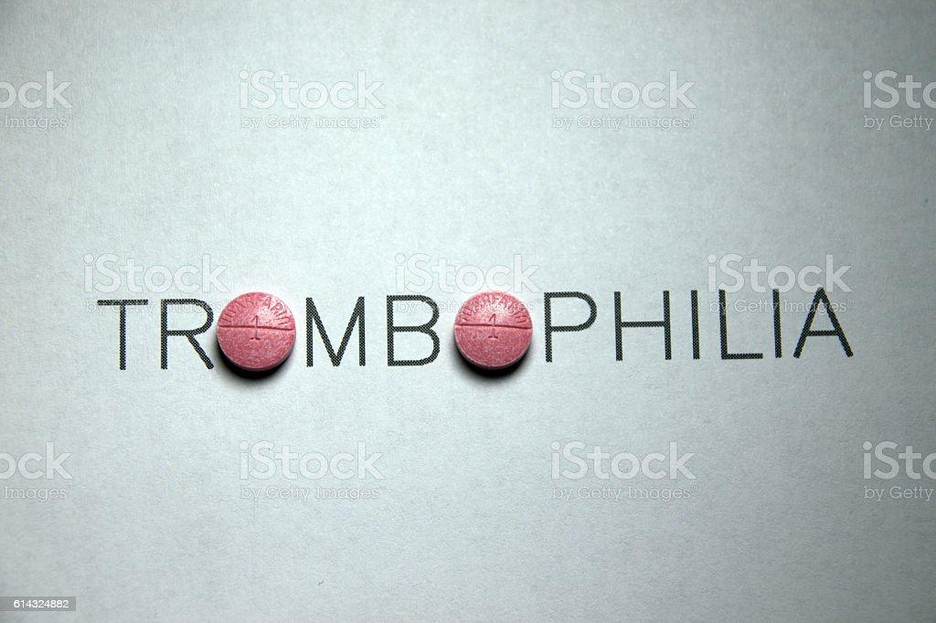 Trombophilia stock photo