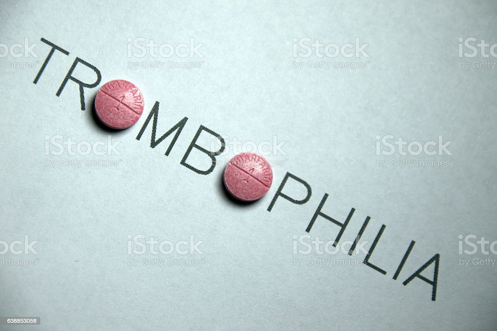 Trombophilia Treatment stock photo