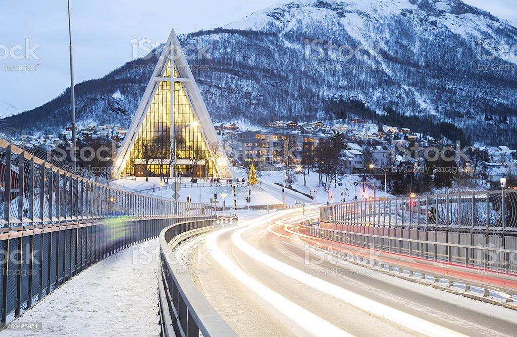 Tromso Arctic Cathedra Norway stock photo