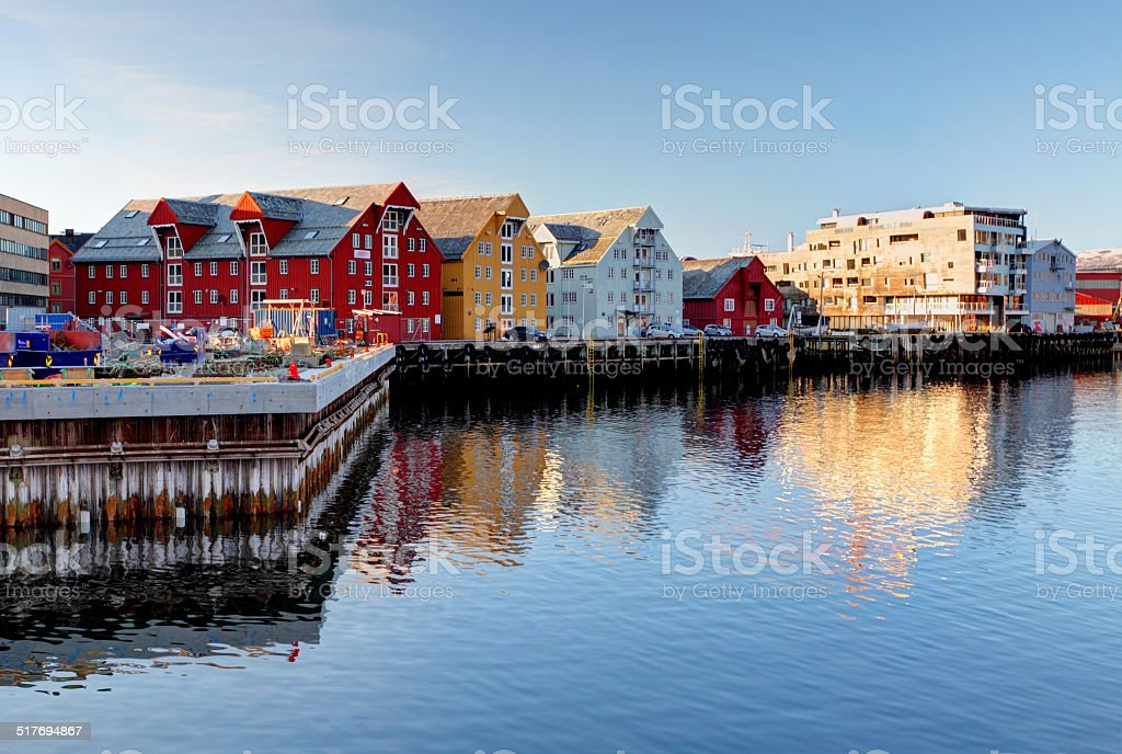 Tromso building - Norway stock photo