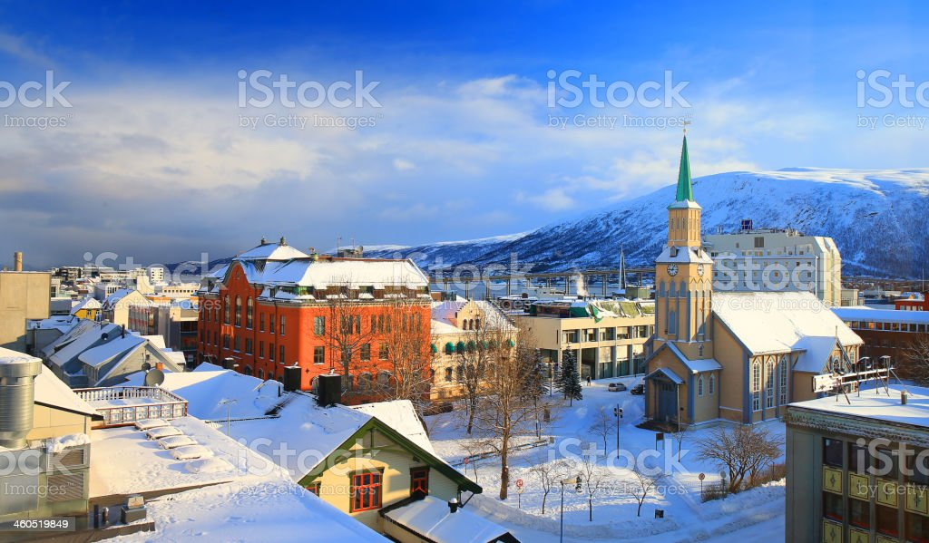 Tromso Cathedral stock photo