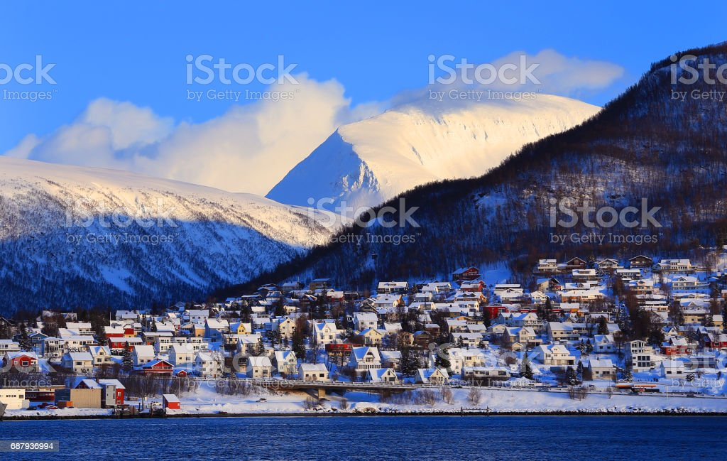 Tromso Cityscape stock photo