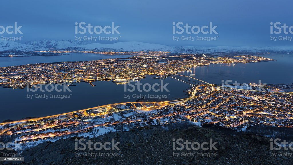 Tromso in Norway stock photo