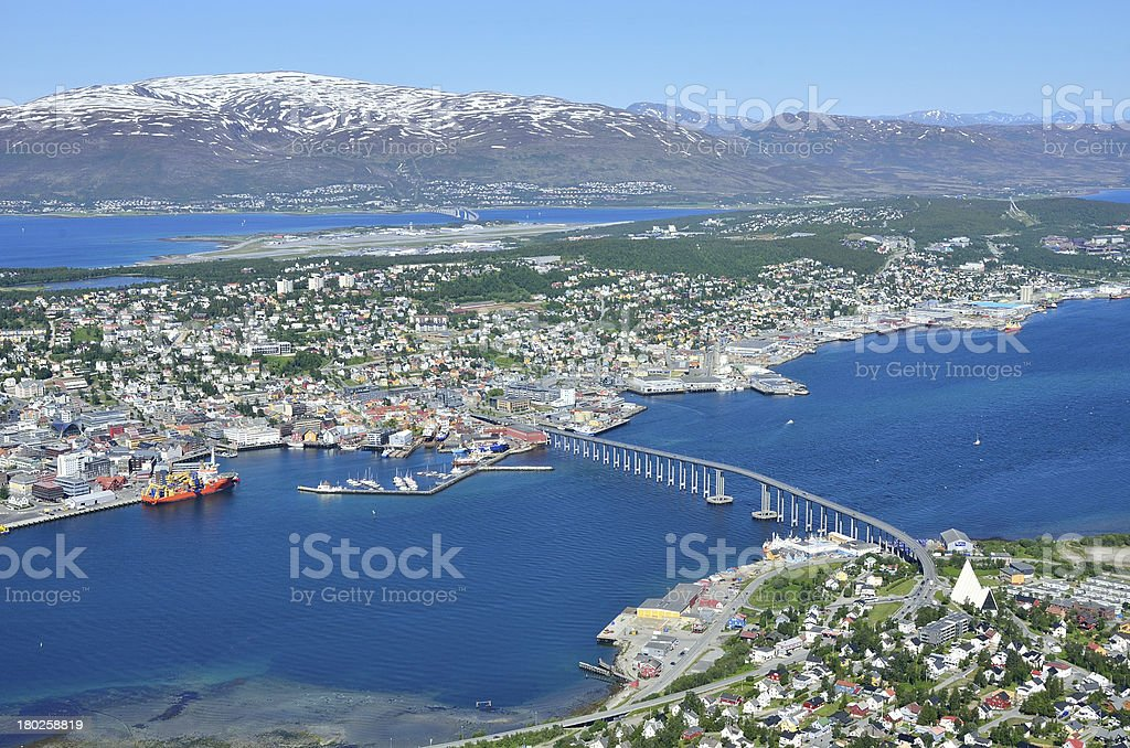 Tromso landscape in Norway stock photo