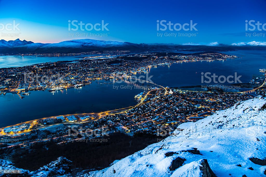 Tromso Norway stock photo