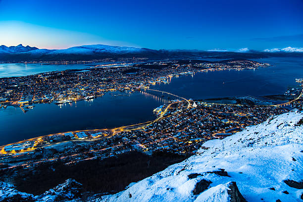 Tromso Norway Panoramic view of Tromso Norway Scandinavia Europe AM stock pictures, royalty-free photos & images