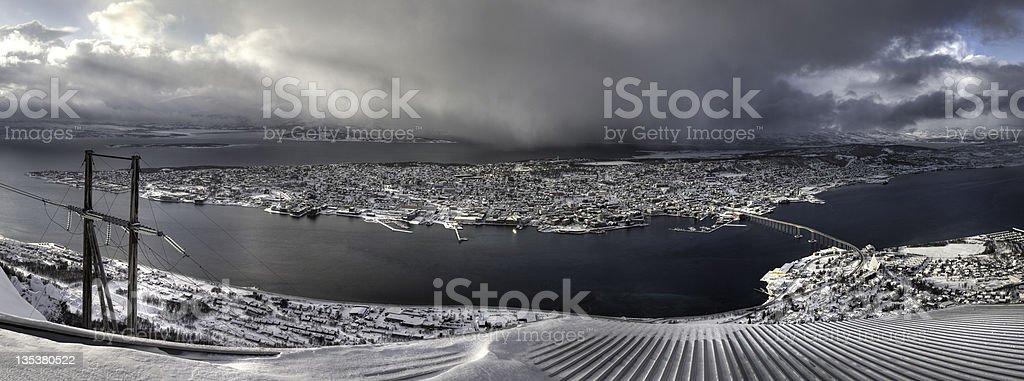 Tromso Panorama XXL royalty-free stock photo