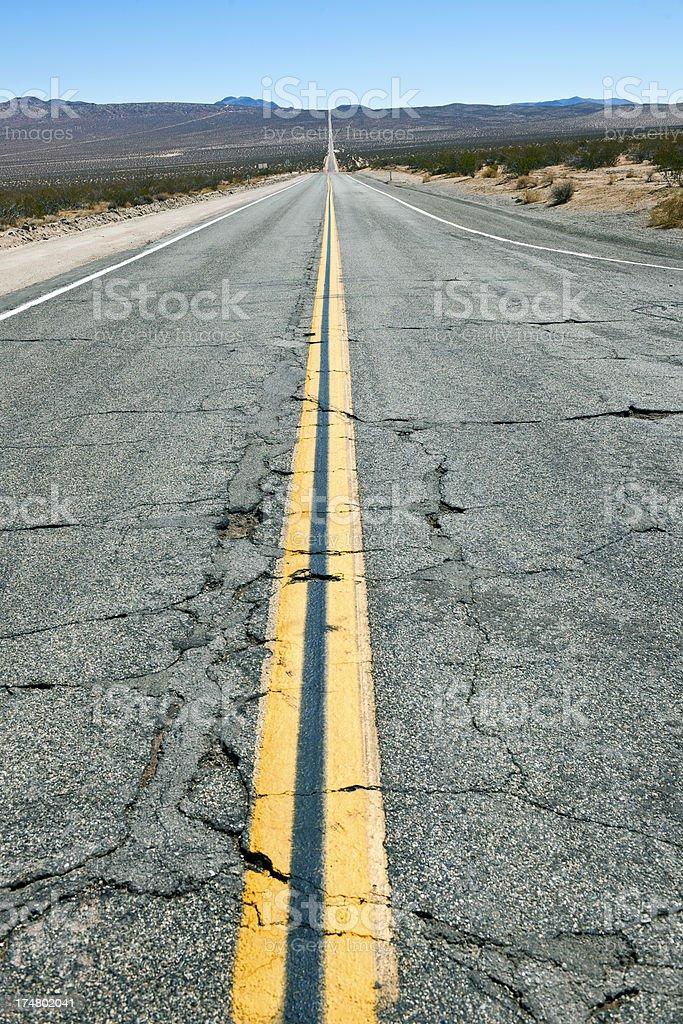 Trona Road Toward Red Mountain Death Valley USA royalty-free stock photo