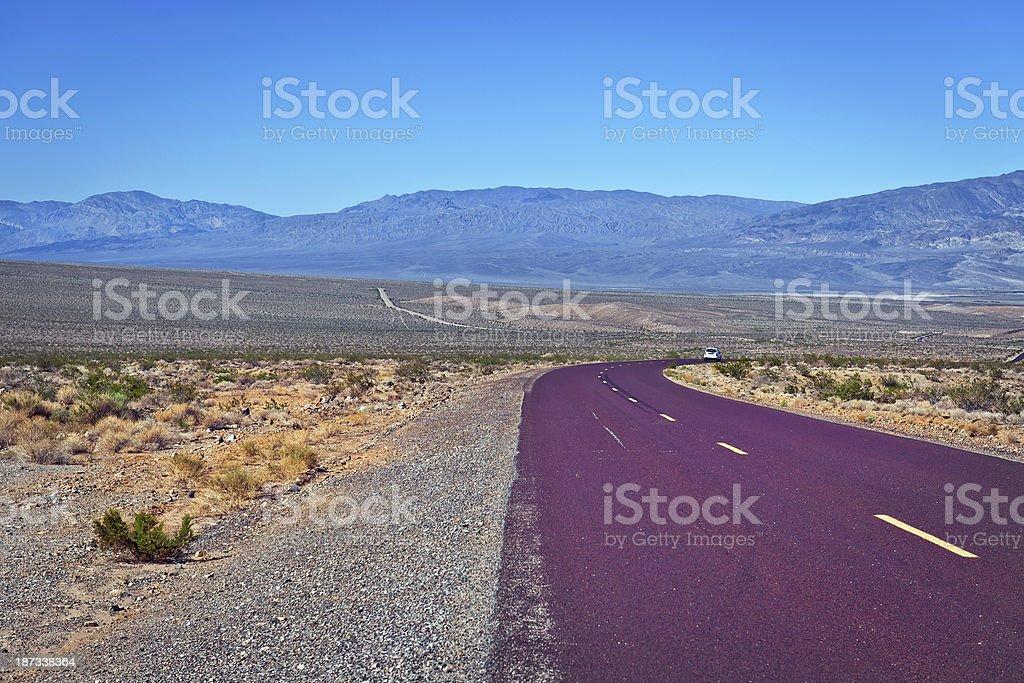 Trona Wildrose Road in Panamint Valley California USA royalty-free stock photo