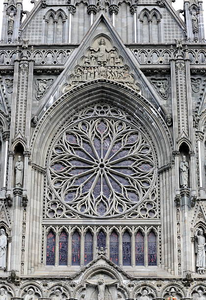 Trondheim Cathedral stock photo