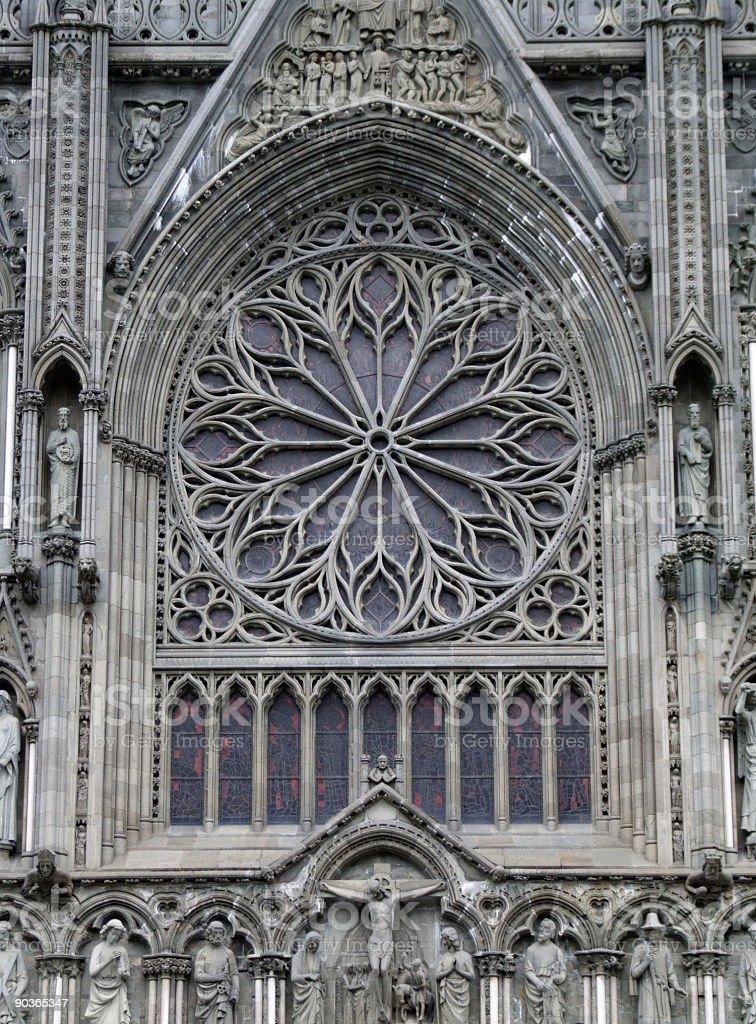 Trondheim landmark - cathedral royalty-free stock photo