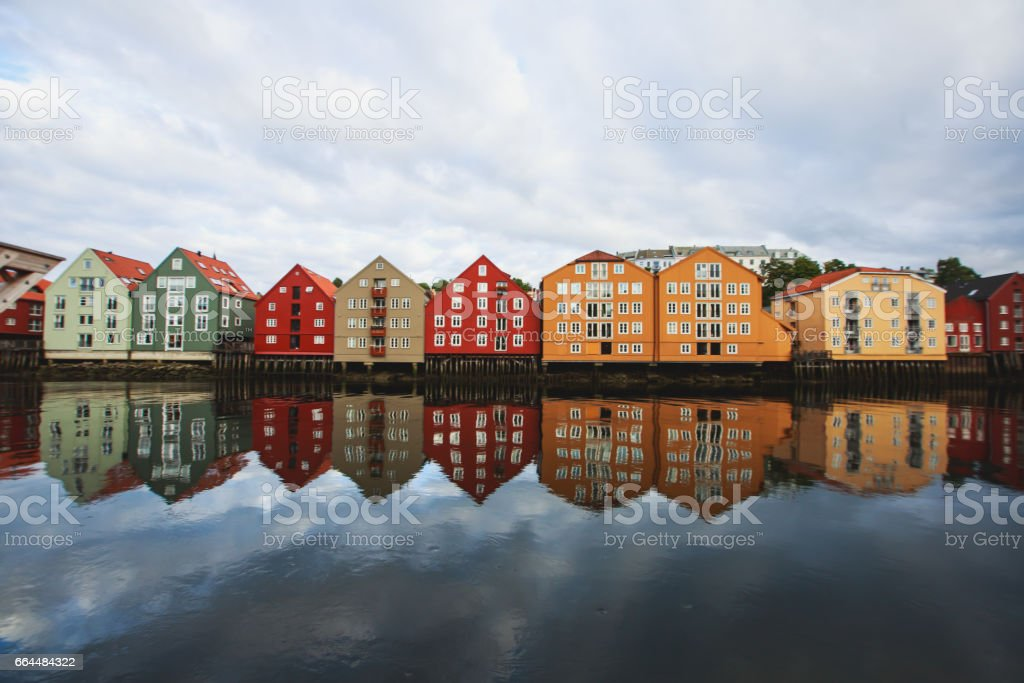 Trondheim panoramic view, Norway, a city and municipality in Sor-Trondelag county stock photo
