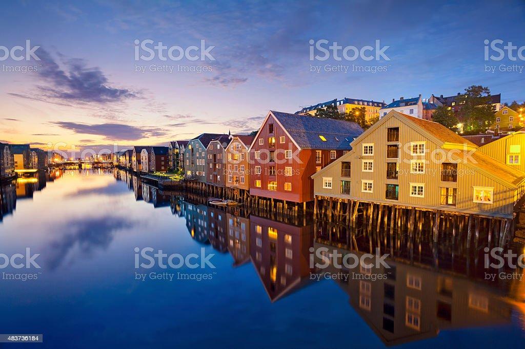 Trondheim. stock photo