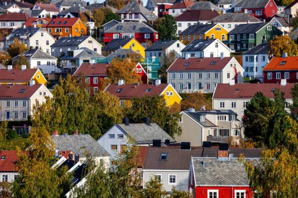 Trondheim view - Norway stock photo