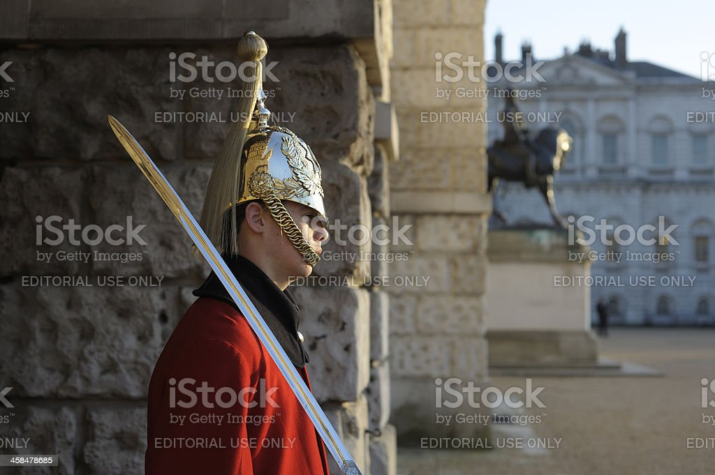 Trooper of the Household Cavalry royalty-free stock photo