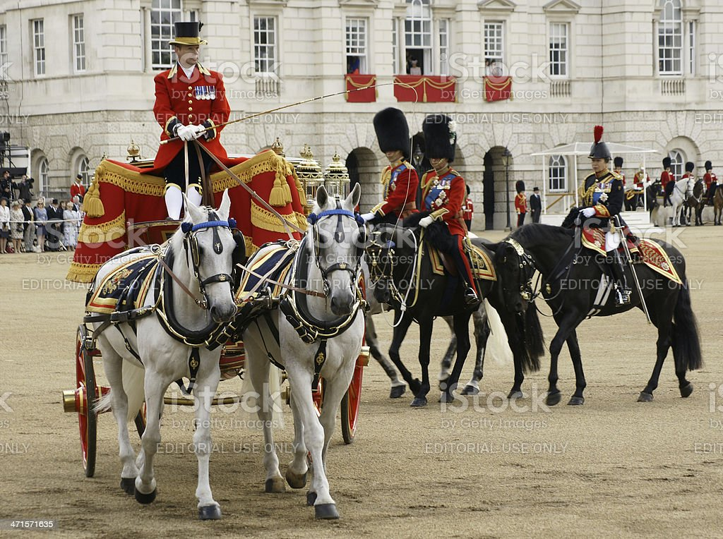Trooping the Color UK Royalty - June 15, 2013 stock photo
