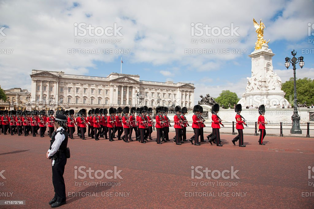 Trooping the Colour royalty-free stock photo