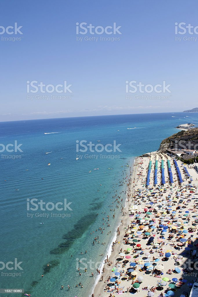 tropea beach stock photo