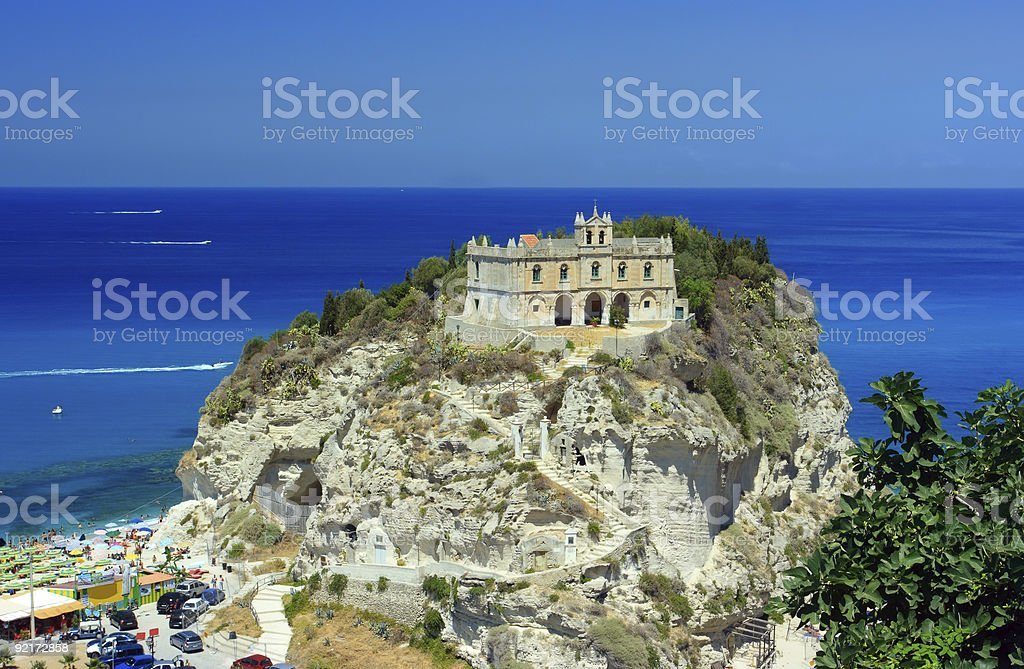 Tropea palace stock photo