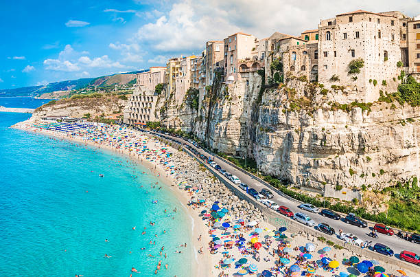 Tropea panoramic view, Calabria, Italy. Tropea panoramic view, Calabria, Italy. bluebell stock pictures, royalty-free photos & images